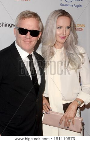 LOS ANGELES - DEC 7:  Anthony Michael Hall, Lucia Oskerova at the  at the  at Hollywood Palladium on December 7, 2016 in Los Angeles, CA