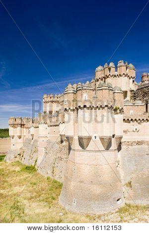 Coca-Burg, Provinz Segovia, Kastilien und Leon, Spanien