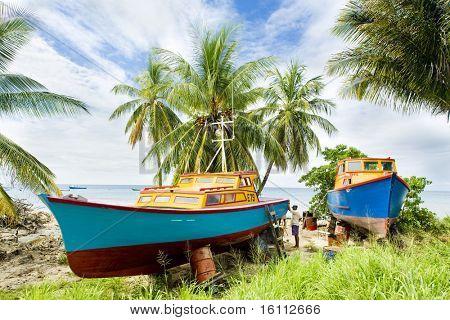 fishing boats, Six Men's Bay, Barbados