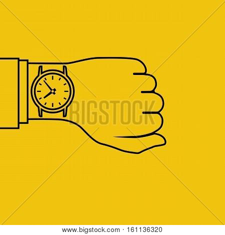 Wristwatch On Hand, Minimal