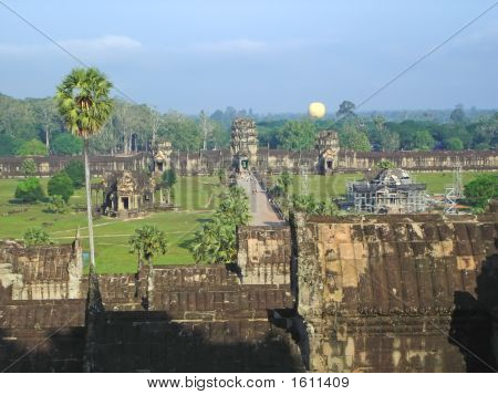 View From The Imperial Old Khmer City, Angkor Vat, Angkor Temples, Cambodgia