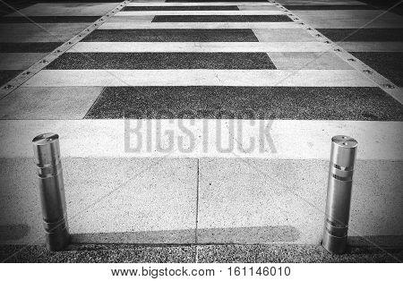Crosswalk in Black and white photo stock