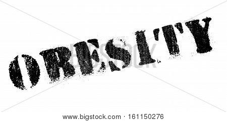Obesity rubber stamp. Grunge design with dust scratches. Effects can be easily removed for a clean, crisp look. Color is easily changed.