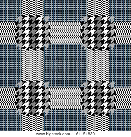 Classical English hounds tooth print. Retro textile design collection.