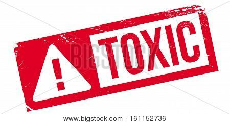Toxic rubber stamp. Grunge design with dust scratches. Effects can be easily removed for a clean, crisp look. Color is easily changed.