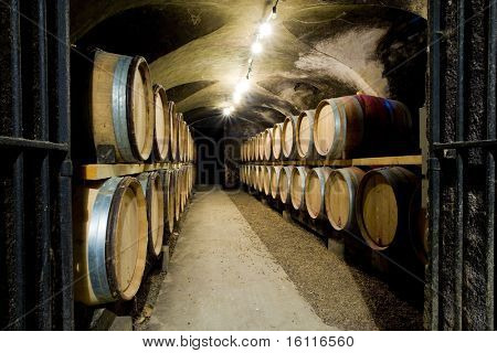 wine cellar in Buxy, Burgundy, France