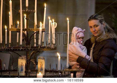 in basilica Notre-Dame-de-l'Eoine, L'Epine, Champagne, France