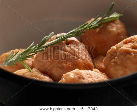 dumplings from cod a la salmon