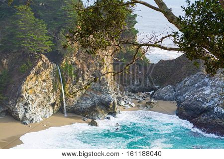 McWay falls in Big Sur state park California