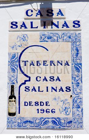 sign of restaurant, Andalusia, Spain