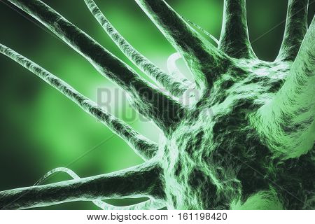 3d rendering virus, bacteria, cell infected organism, virus abstract background