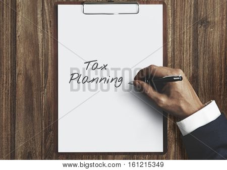 Time for Taxes Money Financial Accounting Taxation Concept