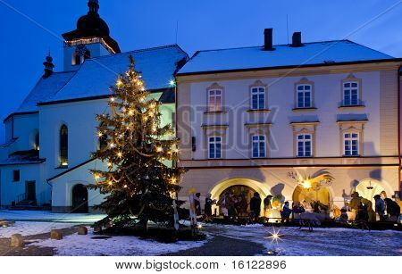 Nove Mesto nad Metuji at Christmas, Czech Republic