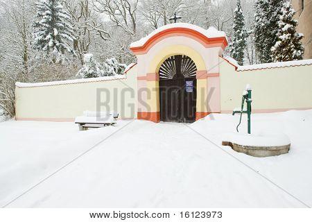 grounds of Church of Saint Peter and Paul, Lisna, Czech Republic