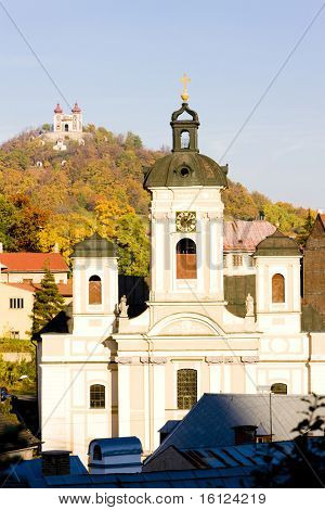 Church of St. Mary and Calvary at background, Banska Stiavnica, Slovakia