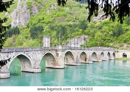 bridge over Drina River, Visegrad, Bosnia and Herzegovina