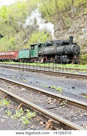 steam freight train, delivery point in Oskova, Bosnia and Herzegovina