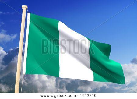 Nigeria Flag (Clipping Path)