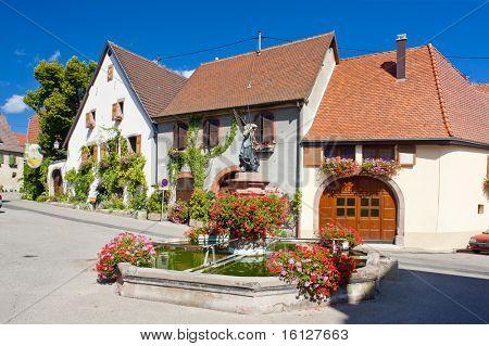 village in Haut Rhin, Alsace, France
