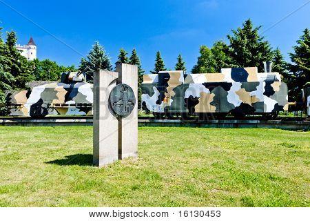 armored train - memorial of Slovak National Uprising, Zvolen, Slovakia