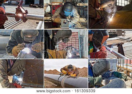 Welding Works On Gas Pipeline