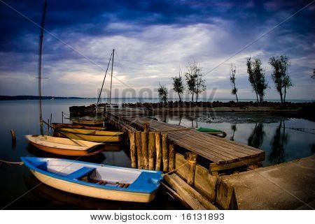 Night-scape at Lake Balaton, Hungary