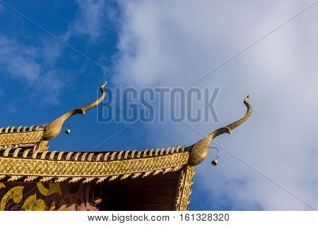 gable apex a part of roof thai temple