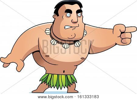 Cartoon Islander Angry