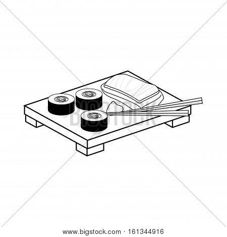 Sushi japan gastronomy icon vector illustration graphic design