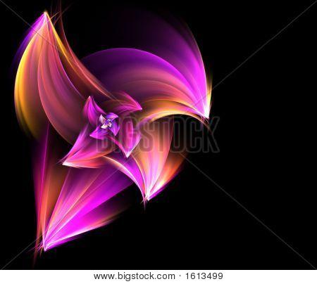 purple Flower Ecke