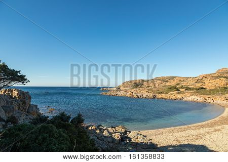 Deserted Beach On Coast Of Desert Des Agriates In Corsica