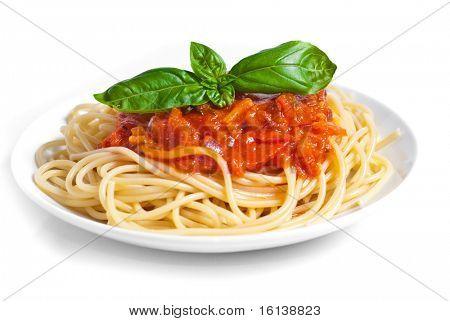 Molho de tomate do espaguete whit