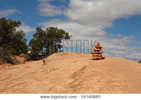 Sandstone cairn