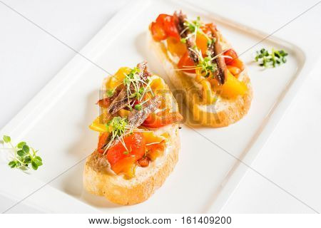 sandwich with anchovy