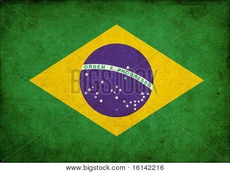 Bandera de grunge de Brasil