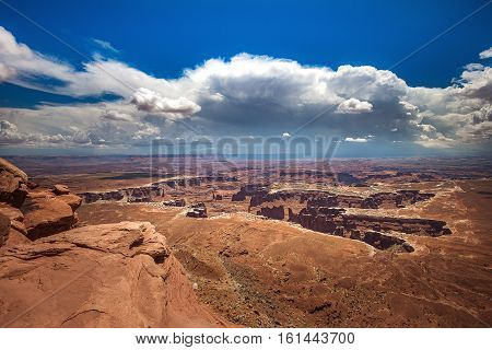 Landscape of Canyonlands National Park from Overlook