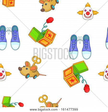 April fools day elements pattern. Cartoon illustration of april fools day elements vector pattern for web