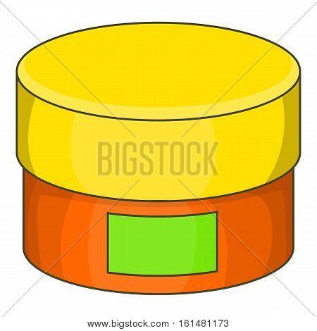 Cream jar icon. Cartoon illustration of cream jar vector icon for web design