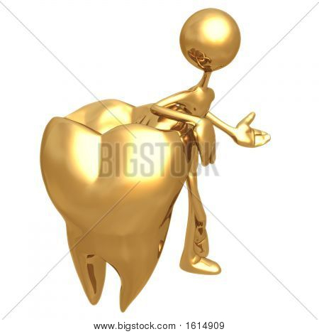 Dental Presenter With Giant Tooth
