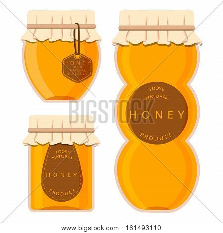Abstract vector illustration of logo for the theme of honey