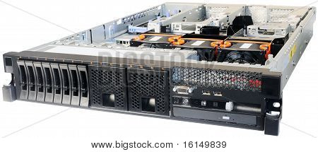Rack-mount Server Over White