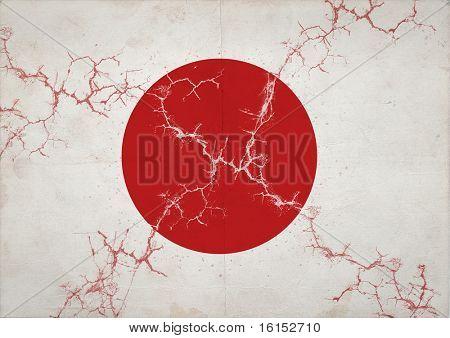 Japan Flag Earthquake in Japan, March 2011.