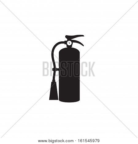 Fire extinguisher icon. Single silhouette fire equipment icon. Vector illustration. Flat style