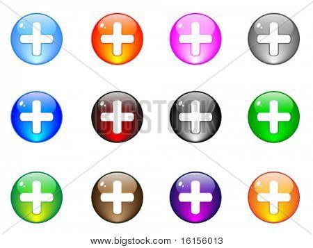 Modern plus buttons