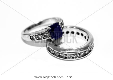 Wedding Rings With Diamonds And Sapphire