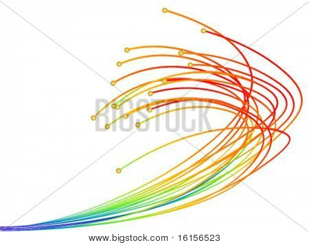 Optic fibres vector illustration