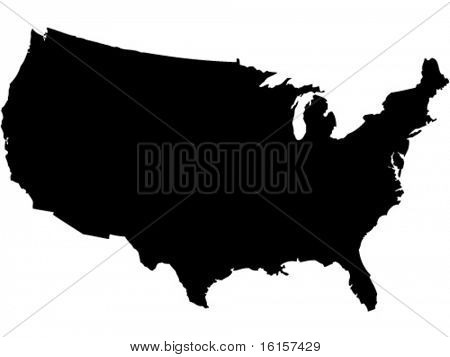shape of american map