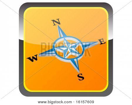 3d compass button