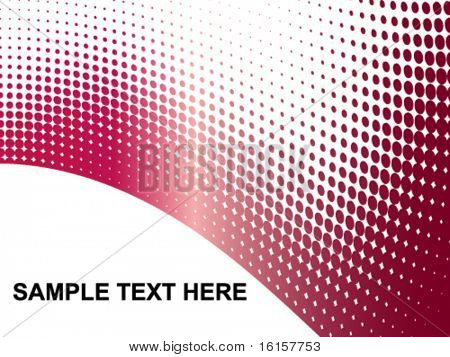 Sample Text Here - dots background