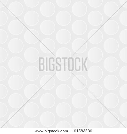Bubble Wrap. White Neutral Seamless Pattern for Modern Design in Flat Style. Tileable Geometric Vector Background.